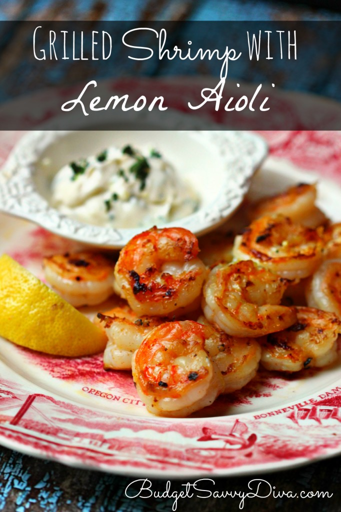 Grilled Shrimp with Lemon Aioli Recipe