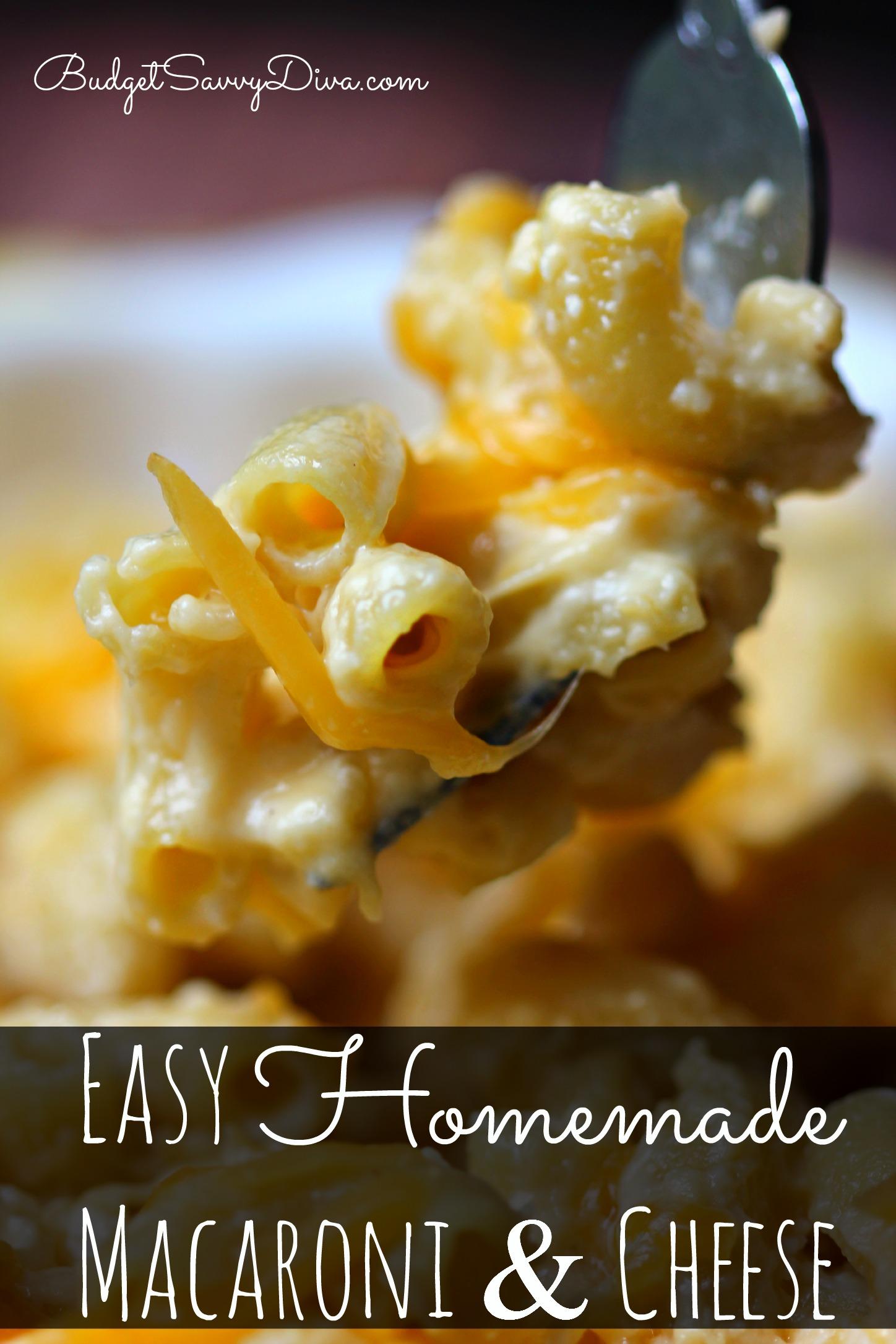 Easy Homemade Macaroni and Cheese Recipe | Budget Savvy Diva
