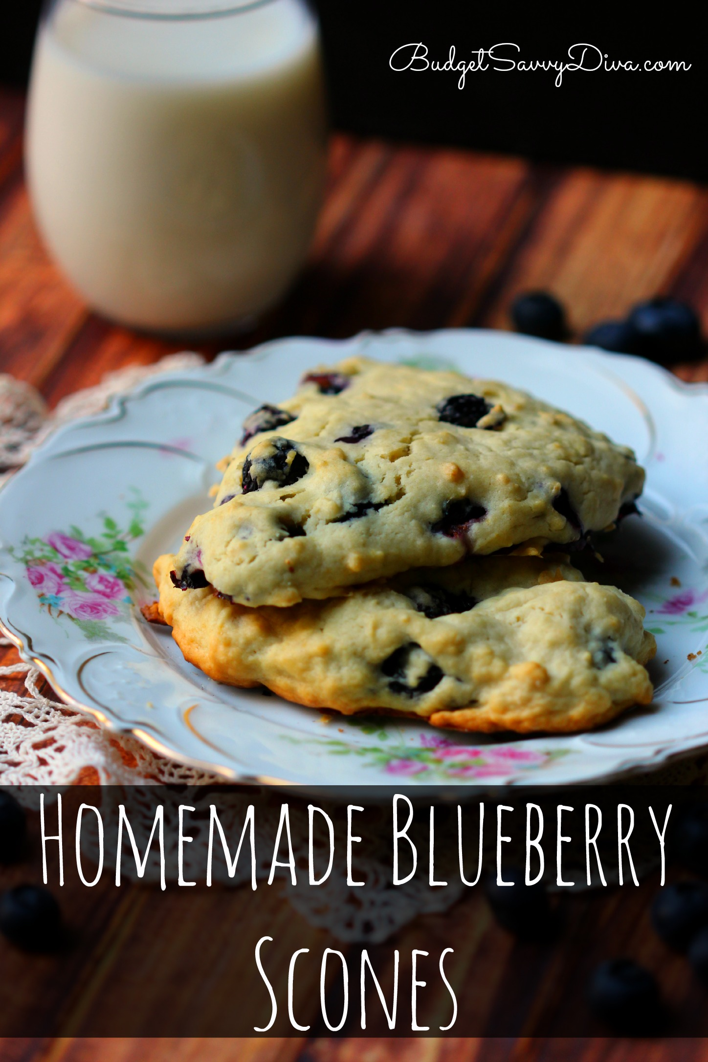 Homemade Blueberry Scones Recipe