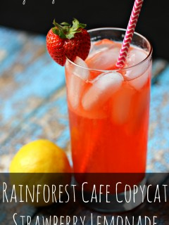 Rainforest Cafe Copycat Strawberry Lemonade