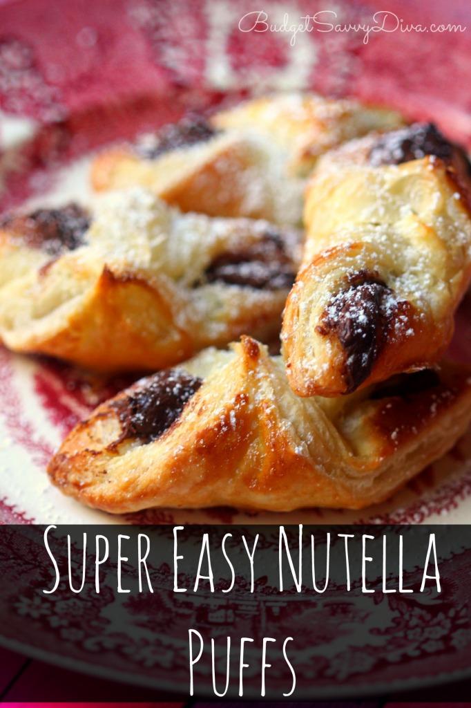 Super Easy Nutella Puffs Recipe