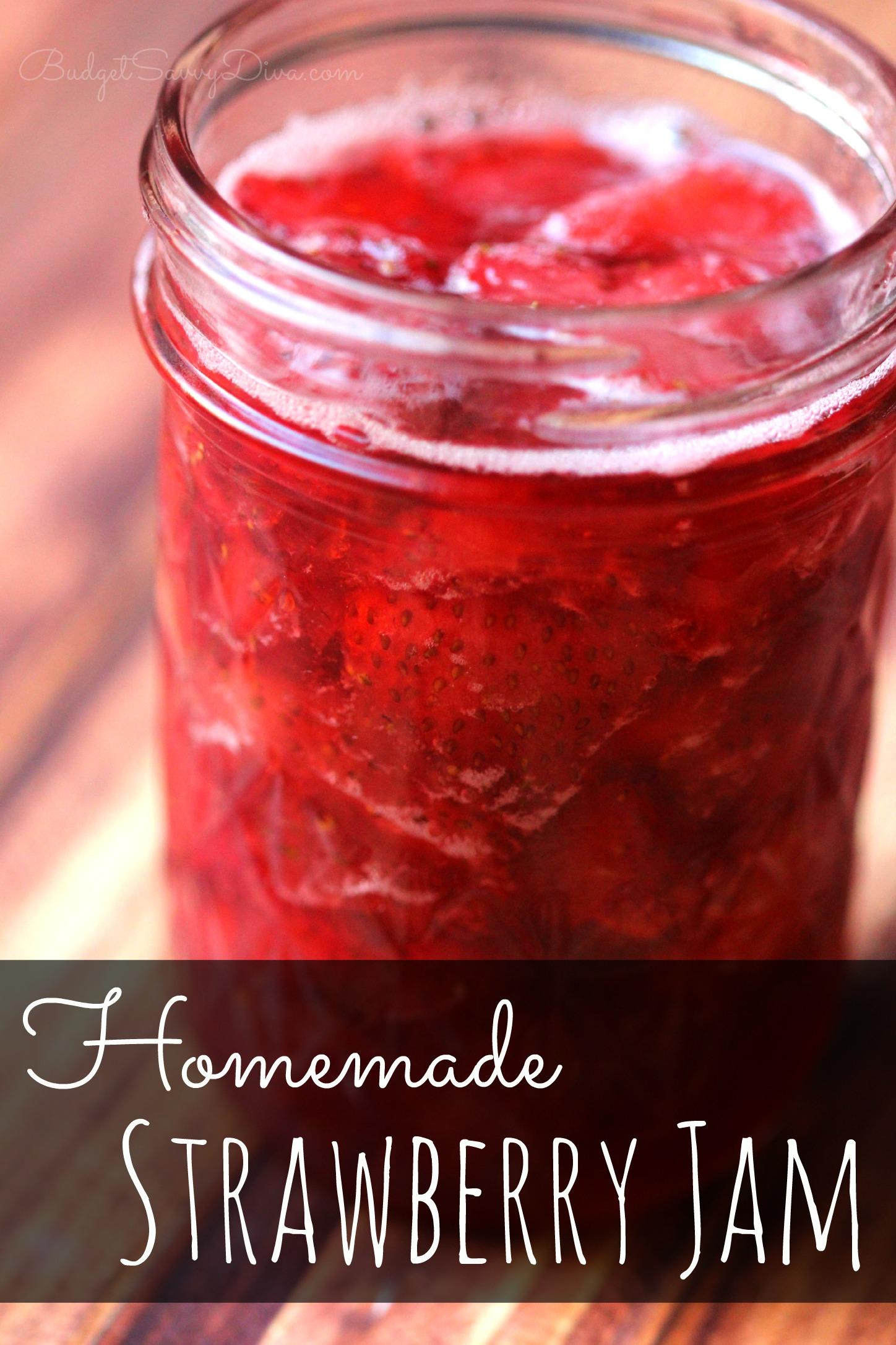 Homemade Strawberry Jam – Marie Recipe | Budget Savvy Diva