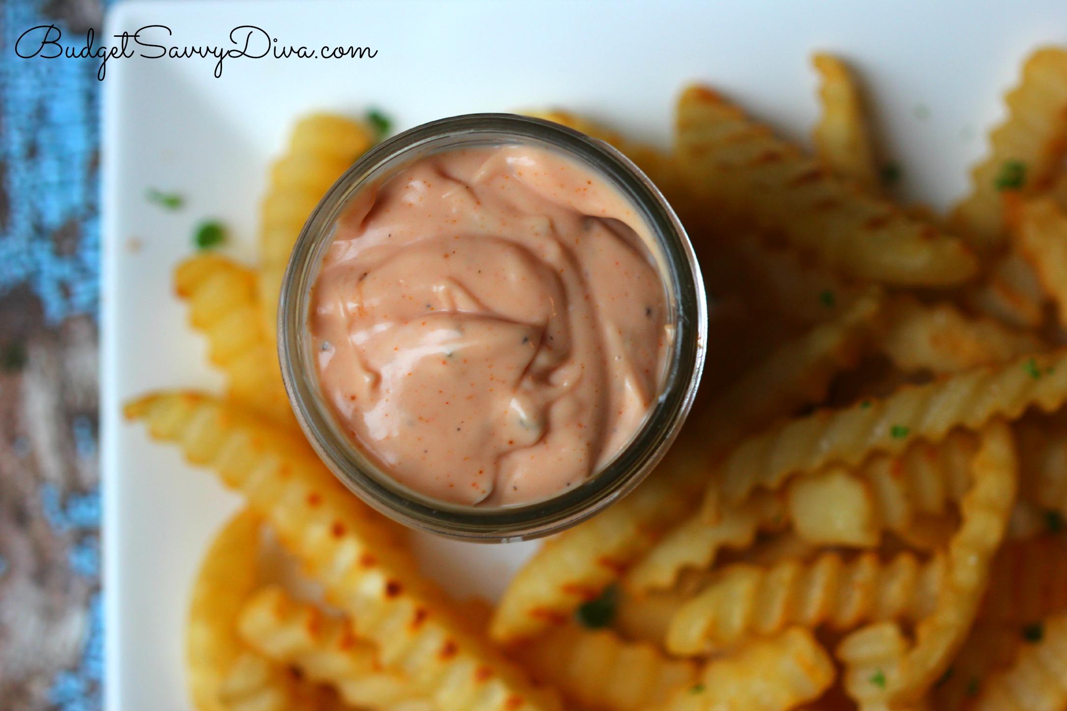 Easy and ketchup and mayonnaise dip recipes