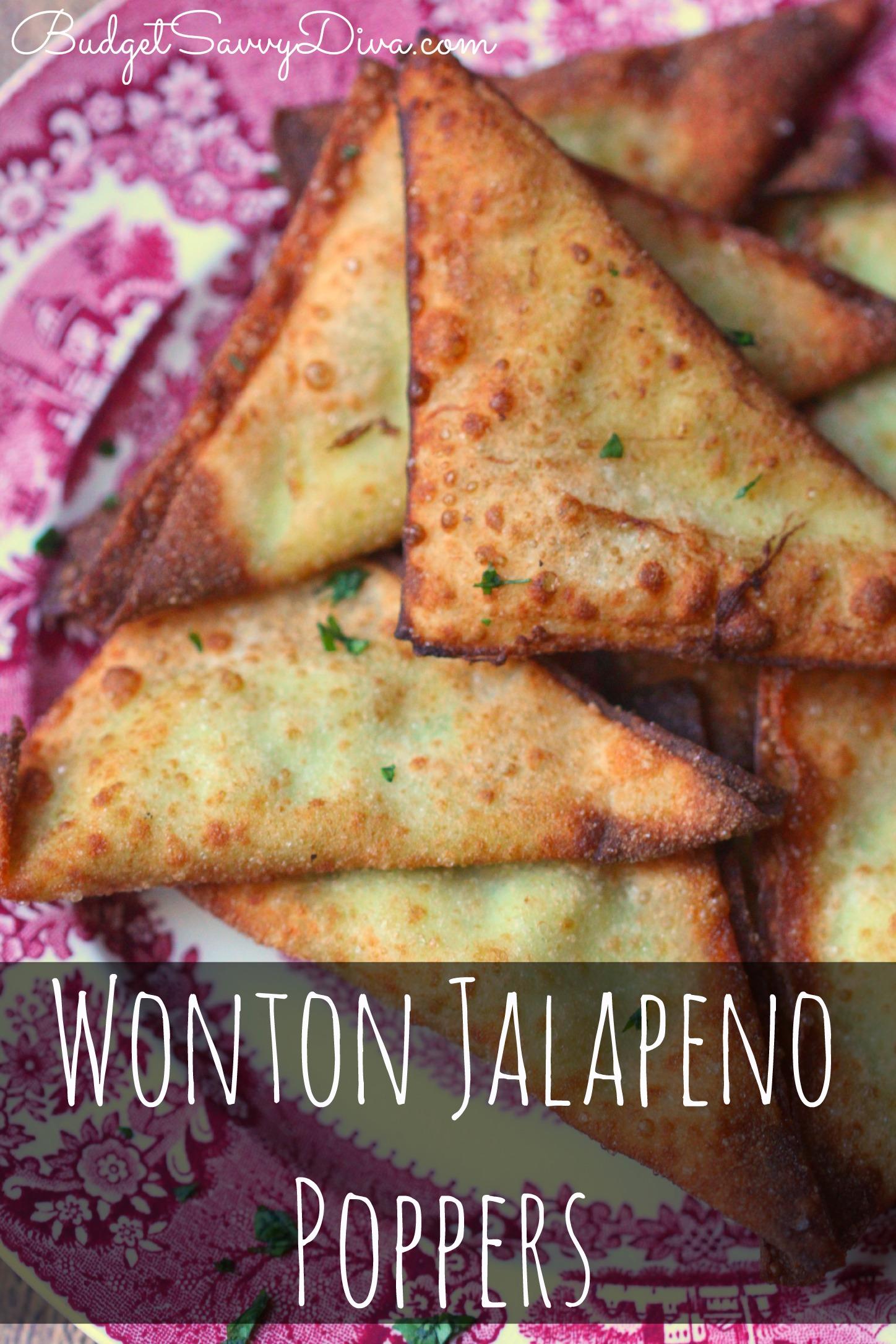 Wonton Jalapeno Poppers Recipe | Budget Savvy Diva