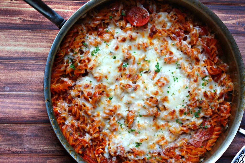 One Pot Pizza Pasta Recipe