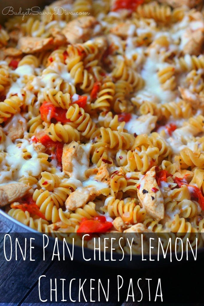 One Pan Cheesy Lemon Chicken Pasta Recipe