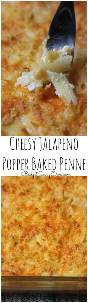 Cheesy Jalapeno Popper Baked Penne Recipe
