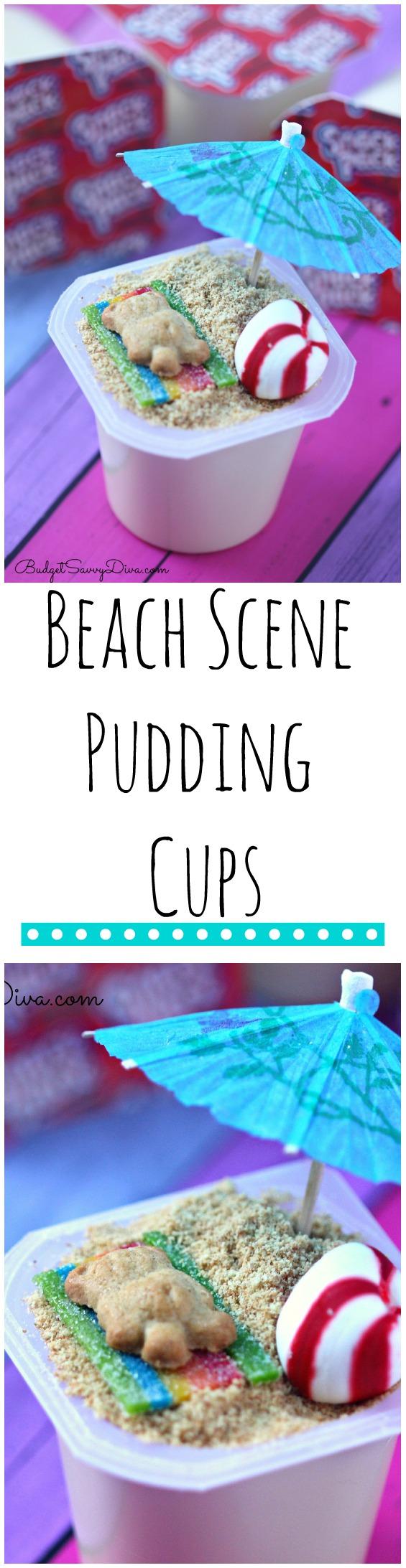 Beach Scene Pudding Cups