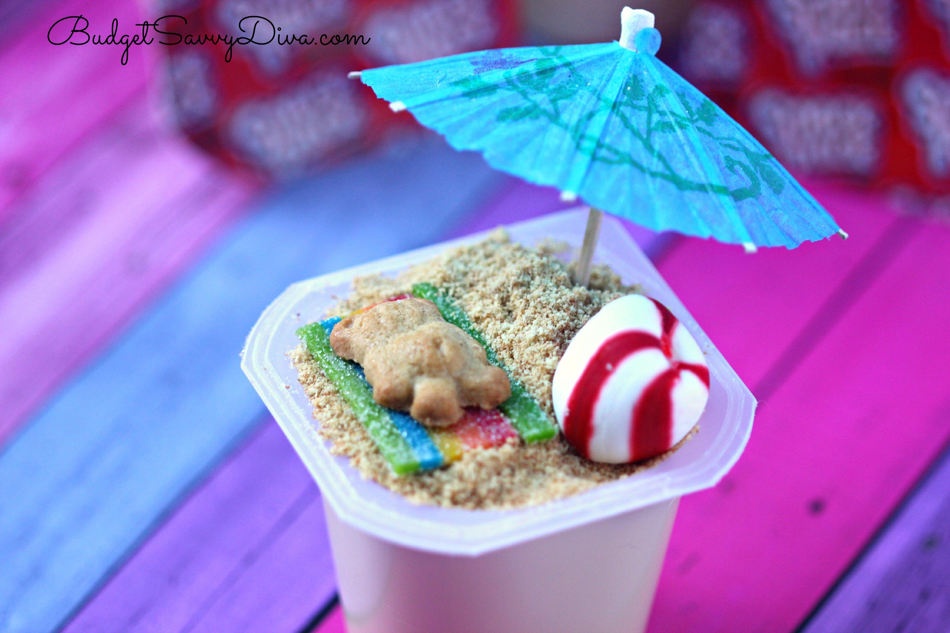 beach scene pudding cups recipe budget savvy diva