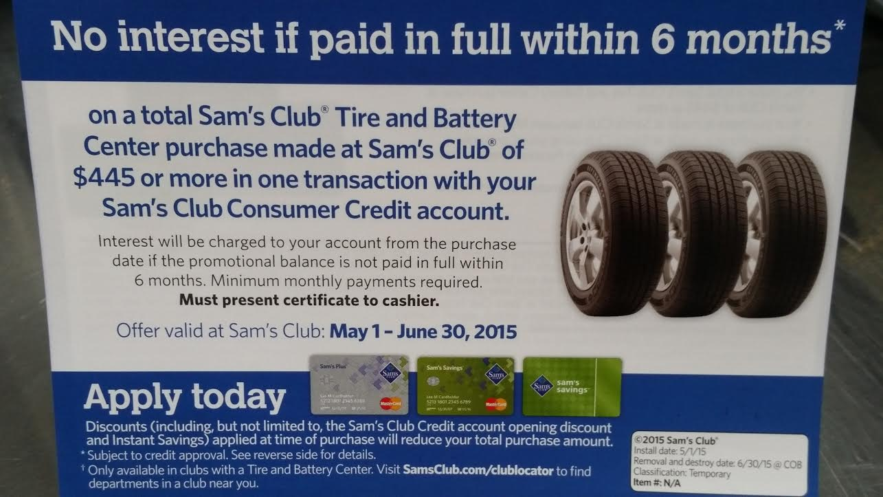 Sam s club credit card payment - Tires6