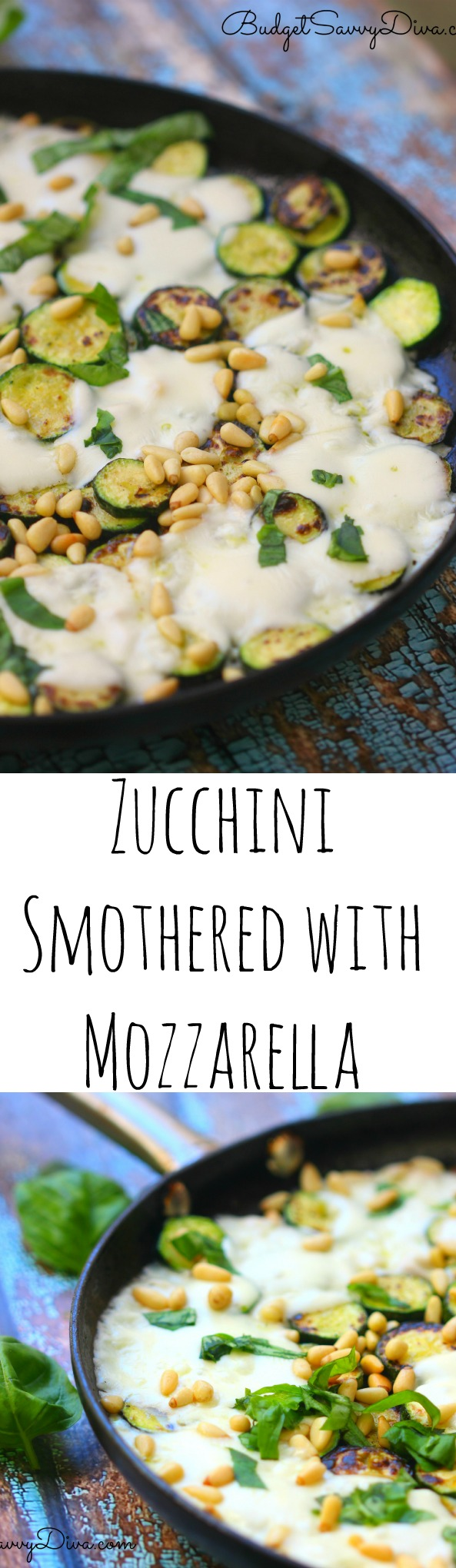Zucchini Smothered with Mozzarella