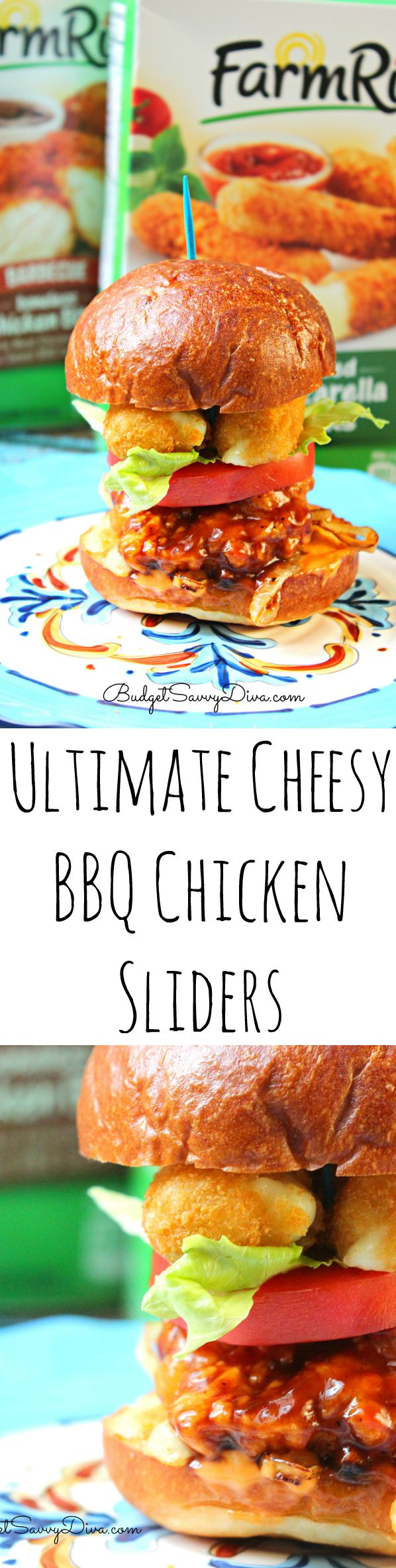 Ultimate Cheesy BBQ Chicken Sliders
