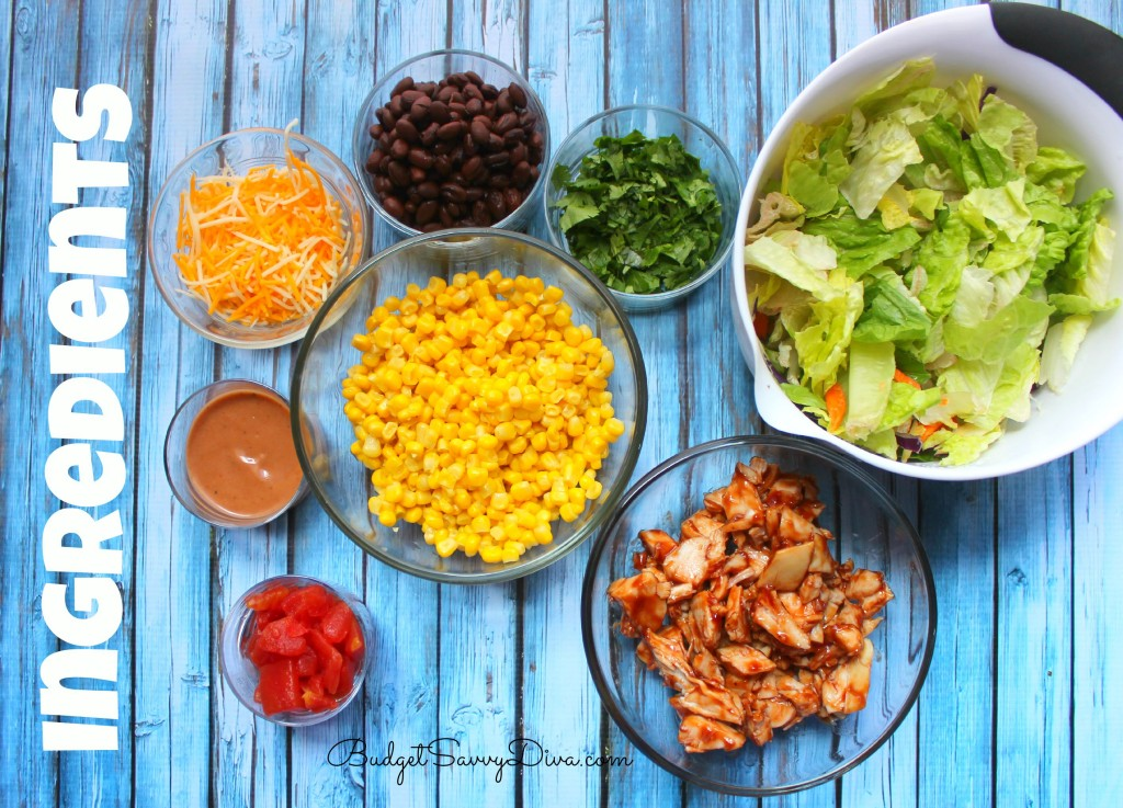BBQ Chicken Salad Ingredients