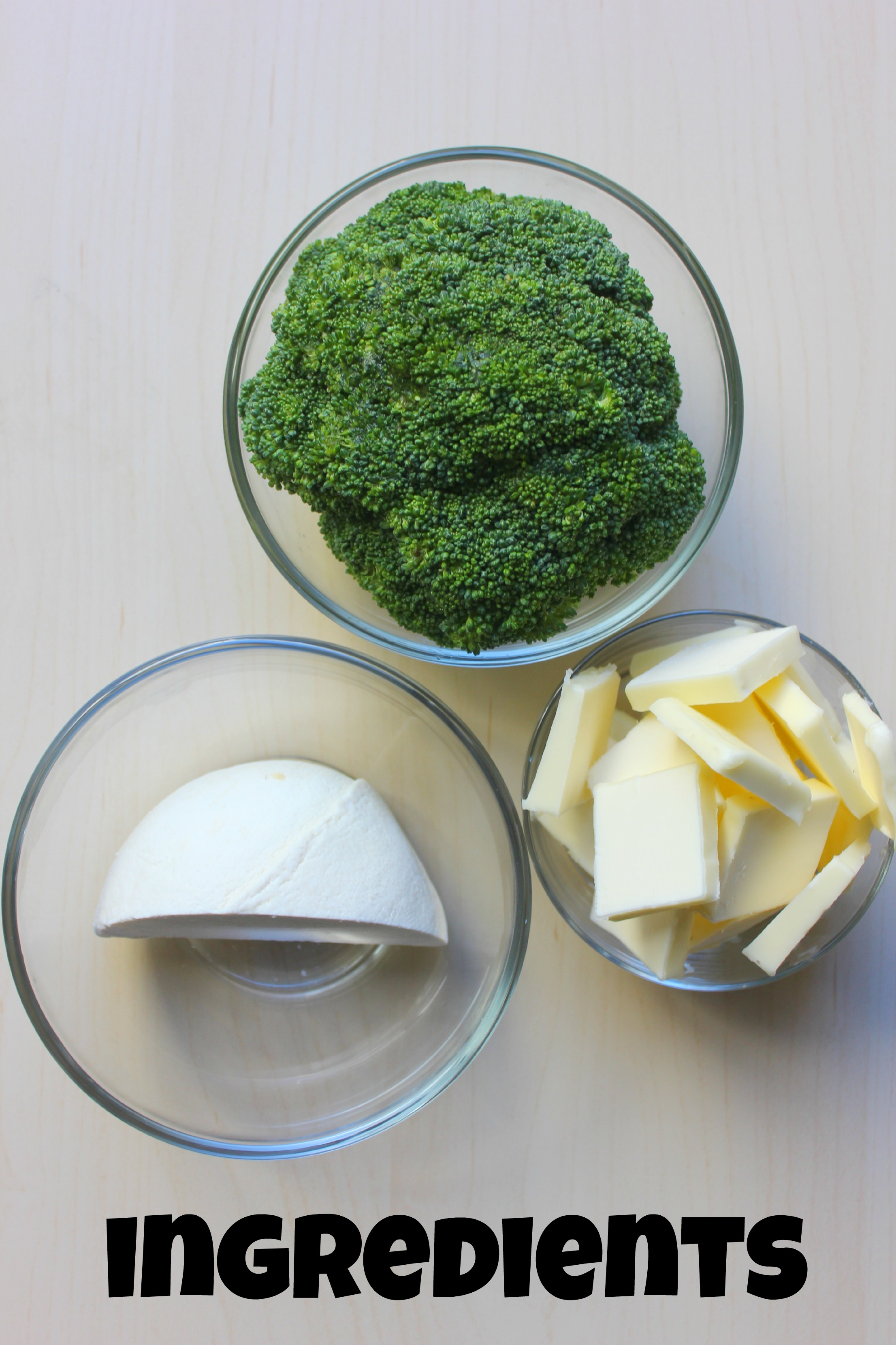 Brocolli Brown Butter ingredients