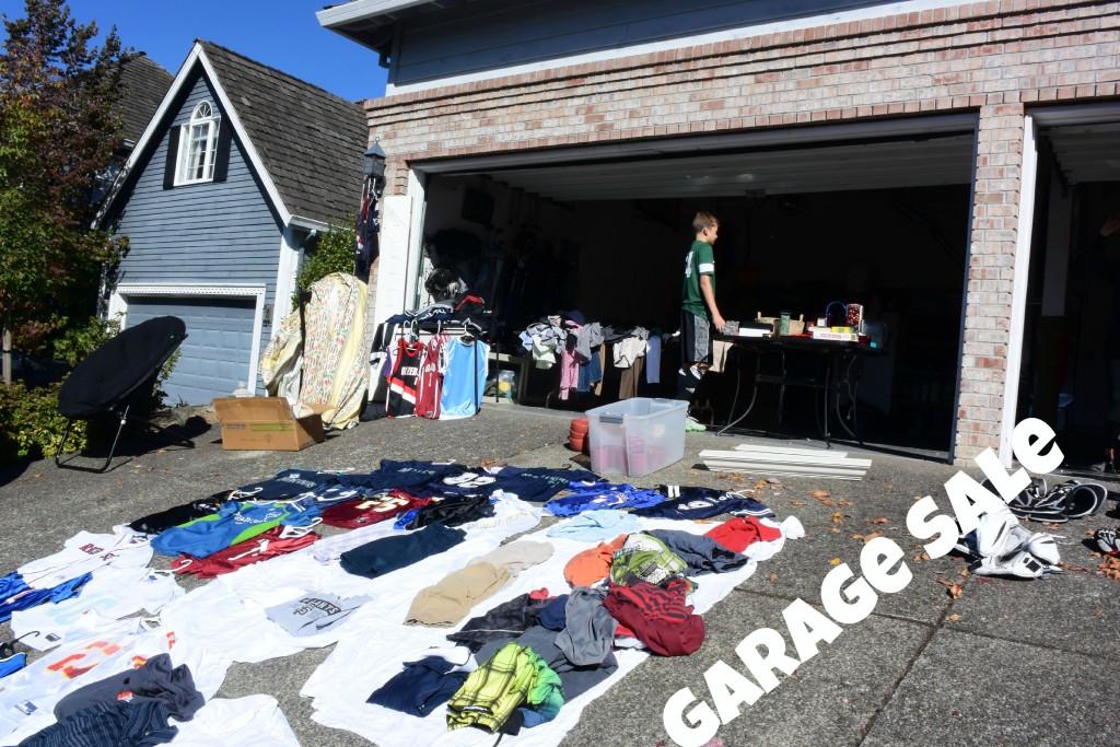 shopping list garage sale