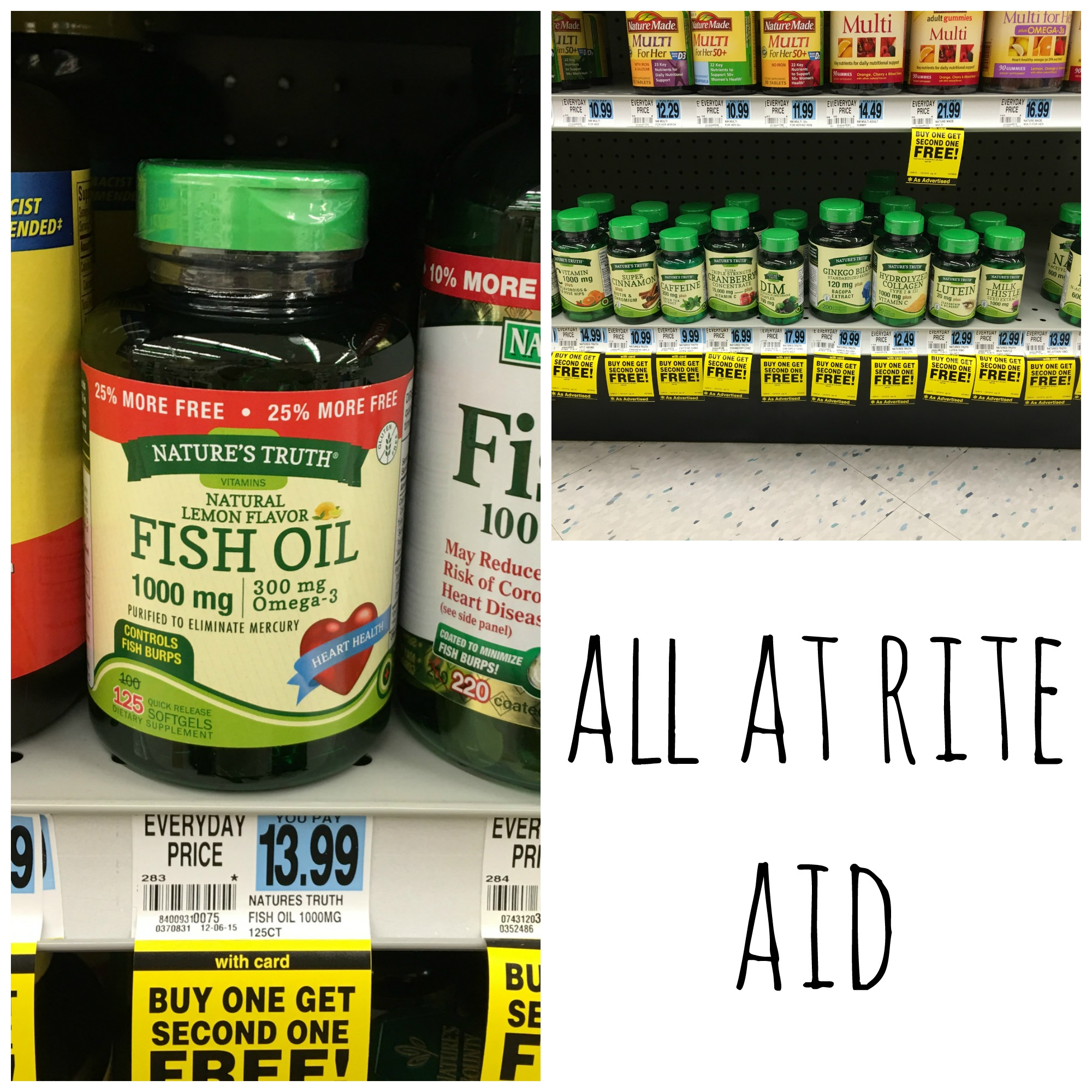 Nature s truth fun diy for storage budget savvy diva for Rite aid fish oil