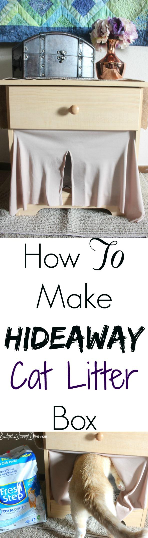 How To Make Hideaway Cat Litter Box