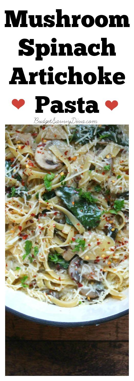 Mushroom Spinach Artichoke Pasta FINAL