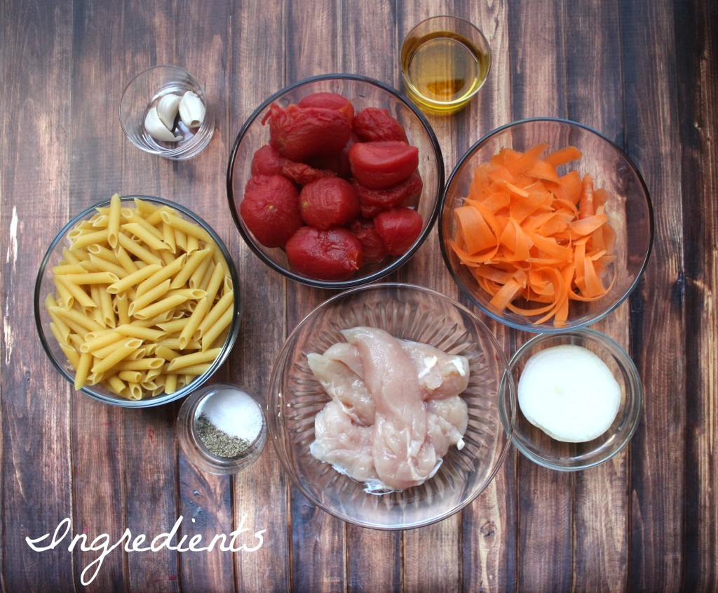Pasta Skillet Dinner with Chicken and Cheese ingredients