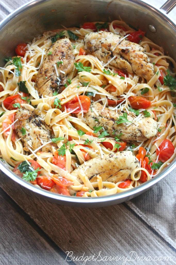Tomato Basil Chicken Pasta 2