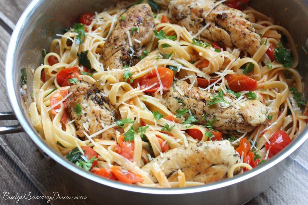 Tomato Basil Chicken Pasta 3
