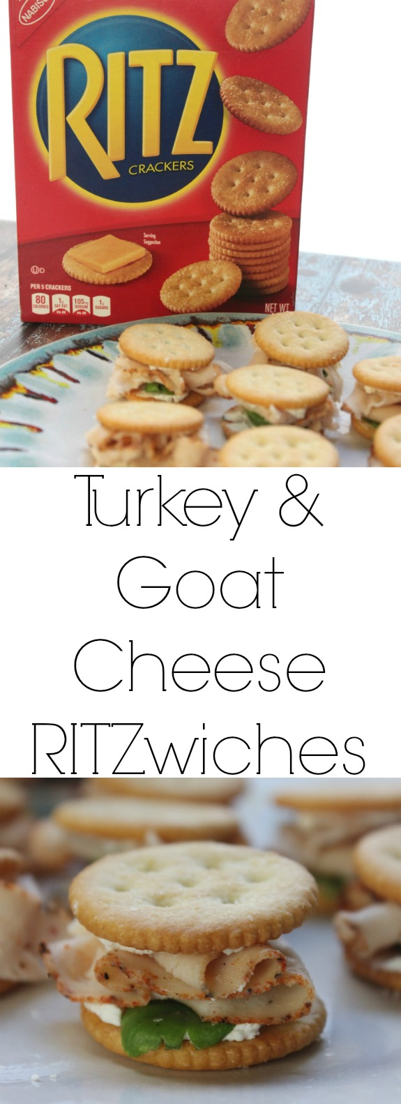Turkey and Goat Cheese RITZwiches