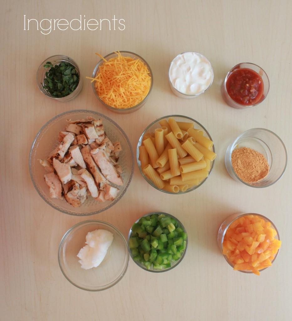 Chicken En Pasta ingredients