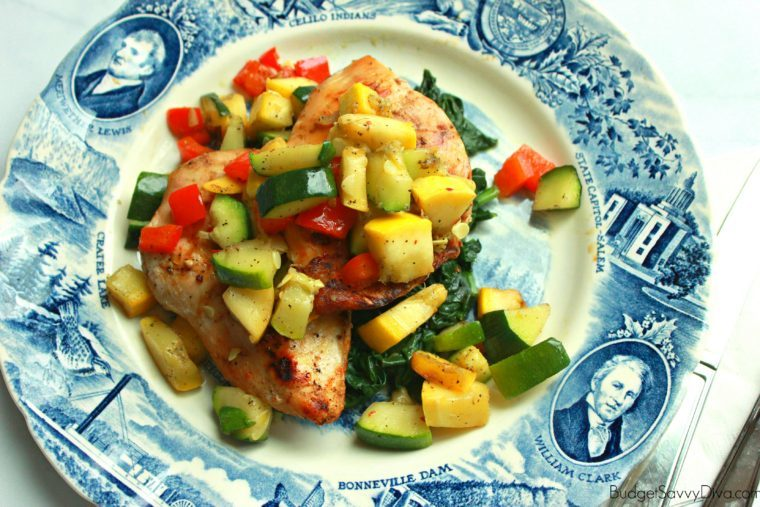 Grilled Chicken With Sauteed Squash Medley Budget Savvy Diva