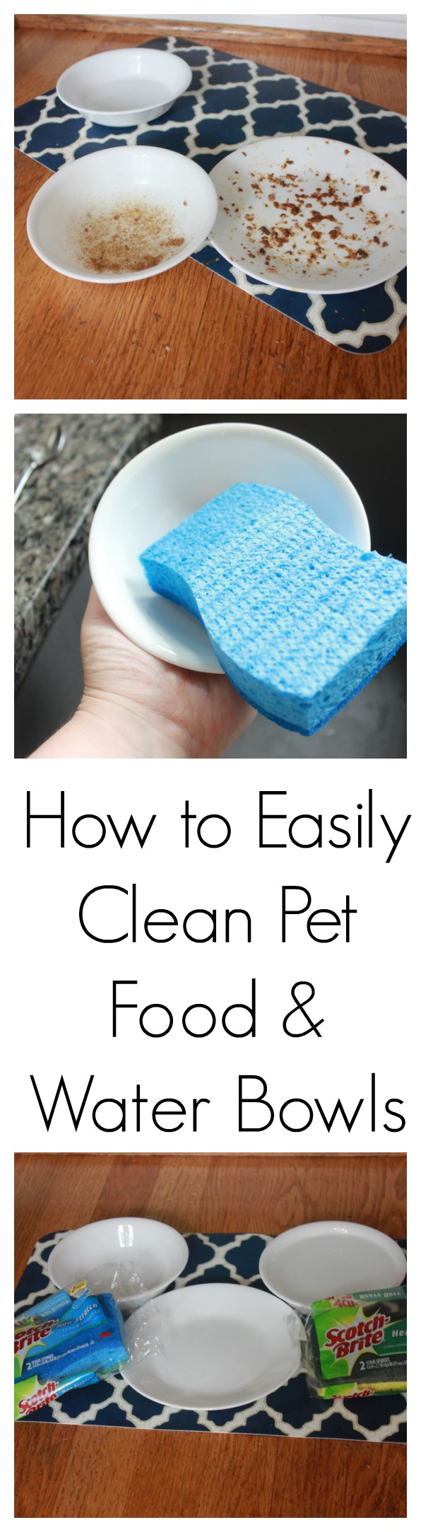 How to Easily Clean Pet Food and Water Bowls