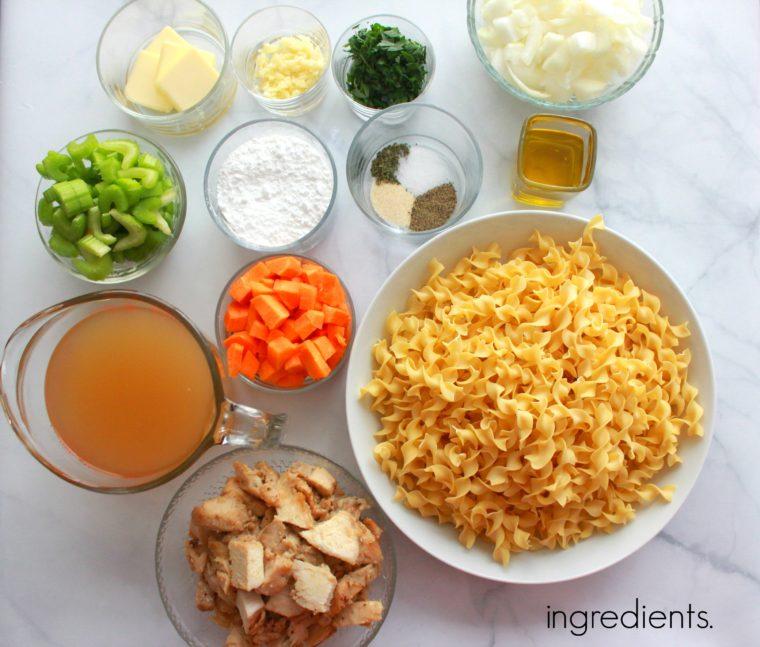 chicken-pot-pie-pasta-ingredients