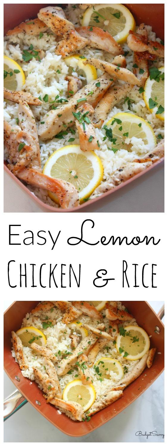 Easy Lemon Chicken And Rice Budget Savvy Diva