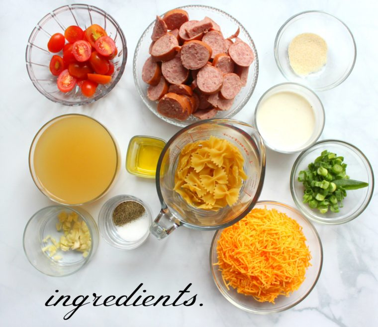 cheesy-pasta-sausage-ingredients