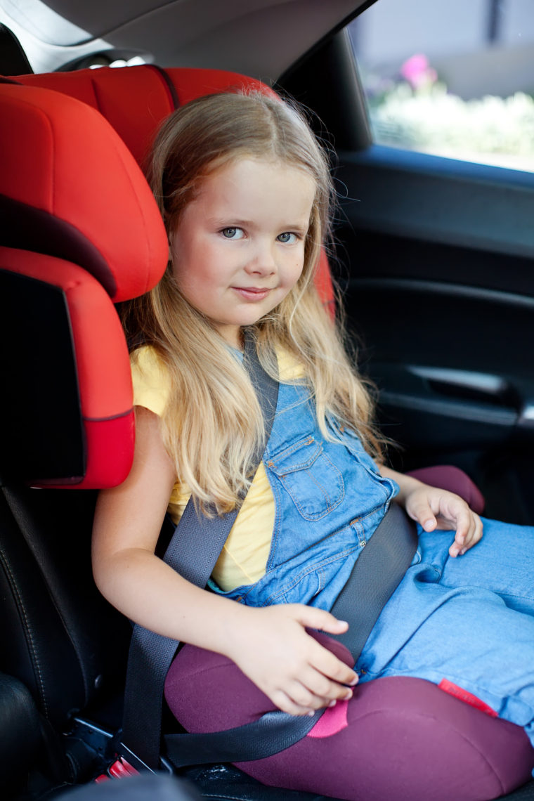 Child in a car chair
