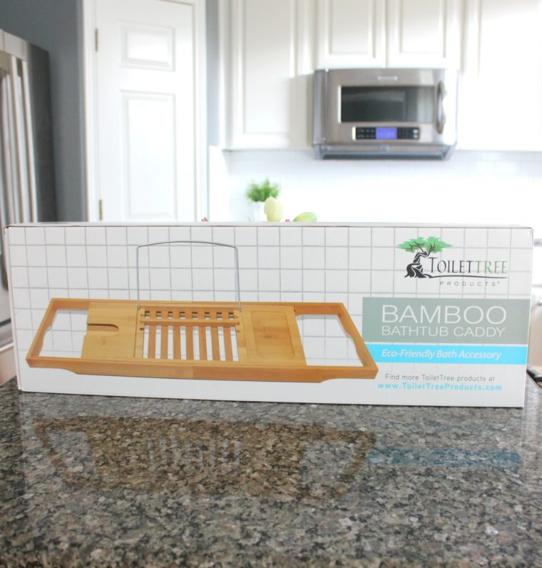 Bamboo Bath Caddy with Extending Sides   Budget Savvy Diva