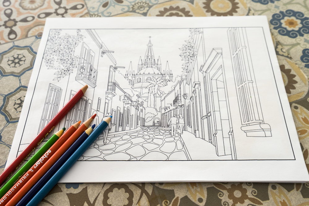 Travel Between the Lines Adult Coloring Book | Budget Savvy Diva