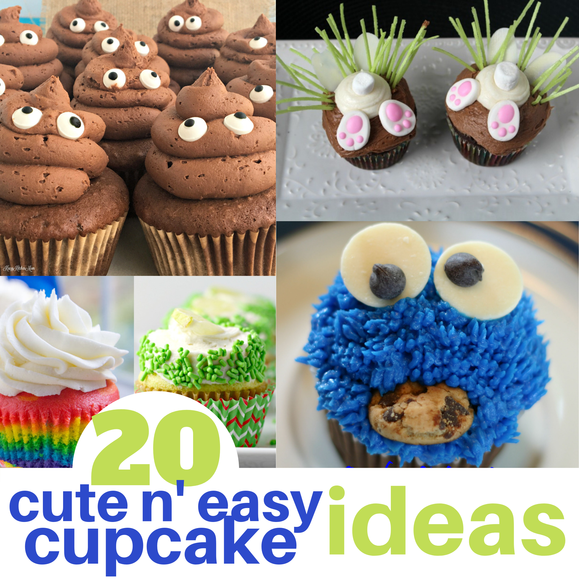 20 Cute And Easy Cupcake Ideas
