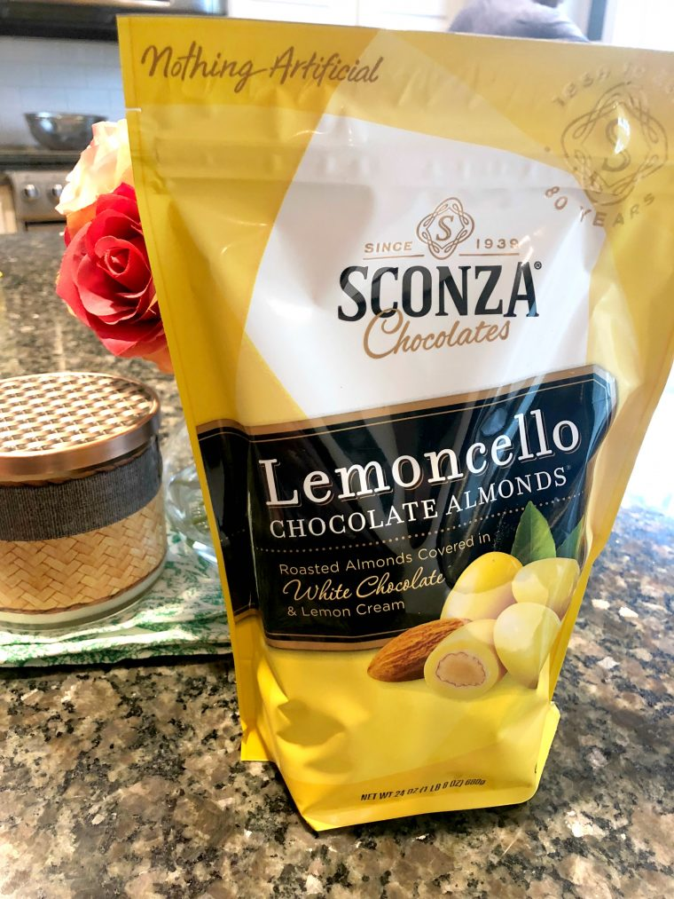 Sconza Lemoncello Almonds at Costco and Online | Budget
