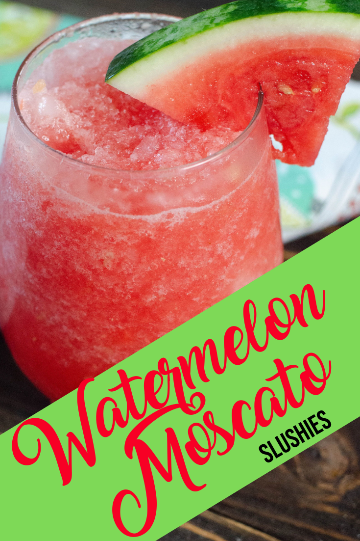 watermelon slushie cocktail with moscato